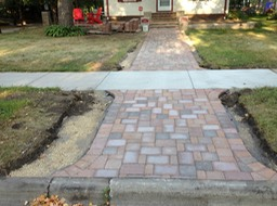 Front Cobble Walkway (In Progress)