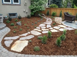 Natural Stone Stepping Path